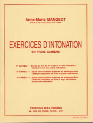 Anne-Marie Mangeot - Intonation Exercises - Book 1 - Partition - di-arezzo.co.uk