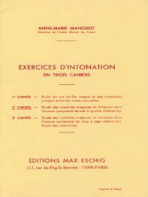 Anne-Marie Mangeot - Intonation Exercises - Booklet 2 - Partition - di-arezzo.co.uk