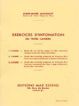 Anne-Marie Mangeot - Intonation Exercises - Book 3 - Partition - di-arezzo.com