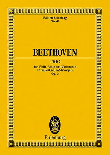 Streich-Trio Es-Dur, Op. 3 - Conducteur - BEETHOVEN - laflutedepan.com