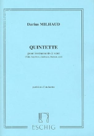 Darius Milhaud - Quintet for wind instruments - Conductor - Partition - di-arezzo.com