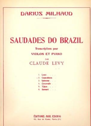 Darius Milhaud - Copacabana - Partition - di-arezzo.fr