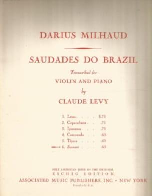Darius Milhaud - Sumare - Partition - di-arezzo.fr