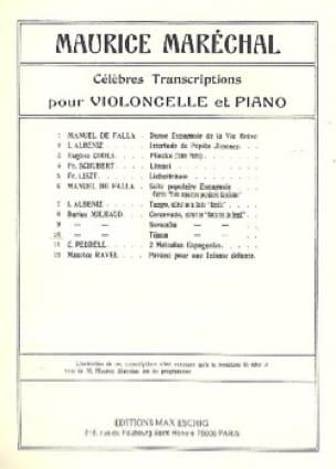 Tijuca - MILHAUD - Partition - Violoncelle - laflutedepan.com