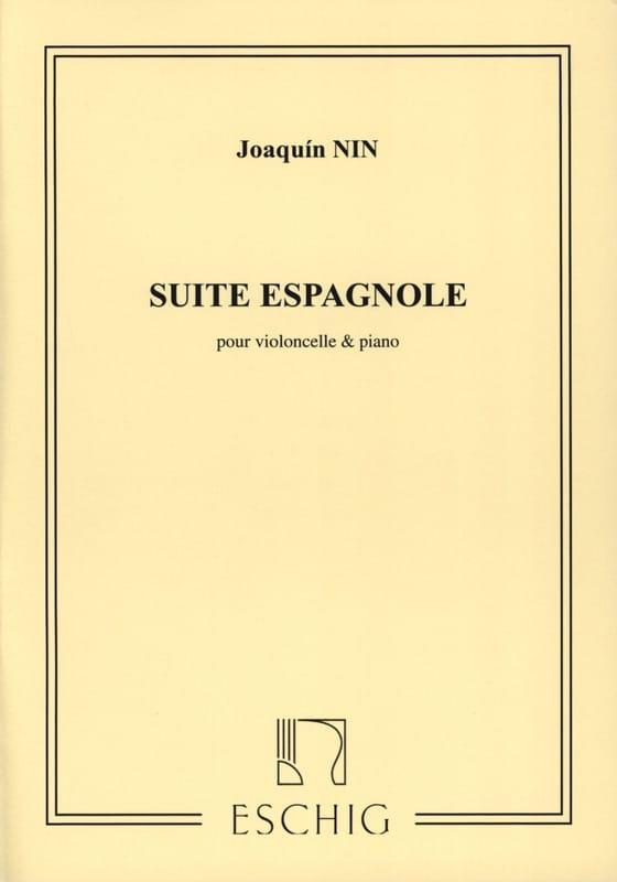 Joaquin Nin - Suite Española - Cello - Partition - di-arezzo.es