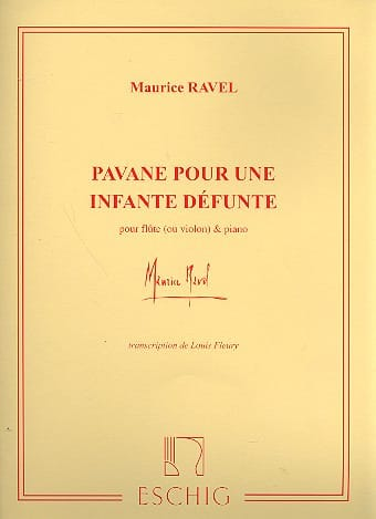Maurice Ravel - Pavane for a dead Infanta - Flute or piano violin - Partition - di-arezzo.co.uk