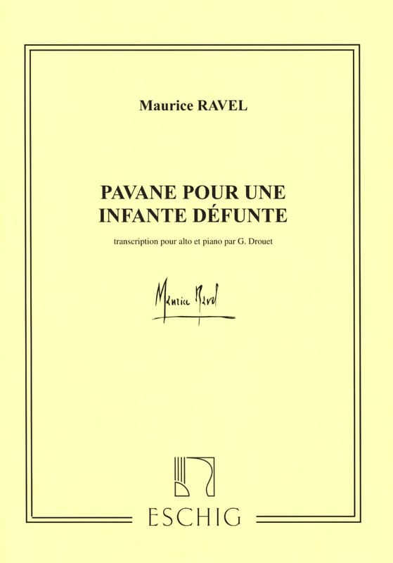 Maurice Ravel - Pavane for a dead infant - Oboe and piano - Partition - di-arezzo.co.uk