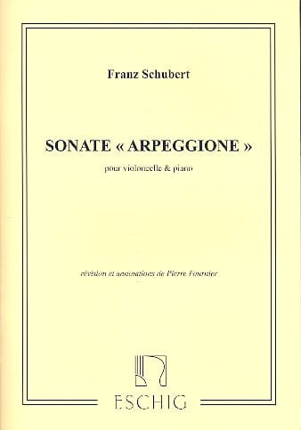 SCHUBERT - Sonata Arpeggione, the minor D. 821 - Partition - di-arezzo.com