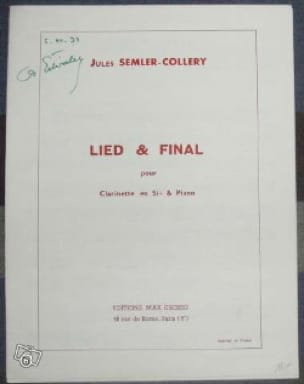 Jules Semler-Collery - Lied and Final - Partition - di-arezzo.co.uk