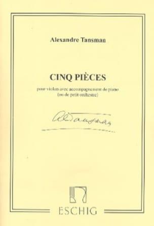 Alexandre Tansman - 5 piezas - Partition - di-arezzo.es