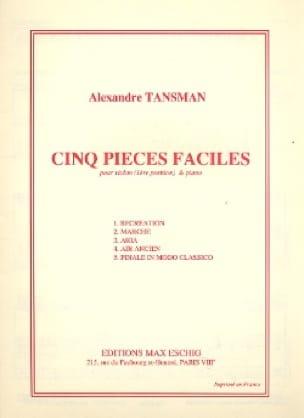 Alexandre Tansman - 5 piezas fáciles - violín - Partition - di-arezzo.es