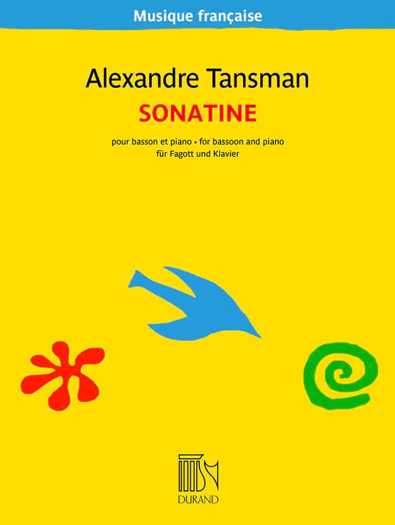 Alexandre Tansman - Sonatine pour basson et piano - Partition - di-arezzo.fr