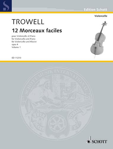 Arnold Trowell - 12 Easy pieces, op. 4 Volume 1 - Partition - di-arezzo.com
