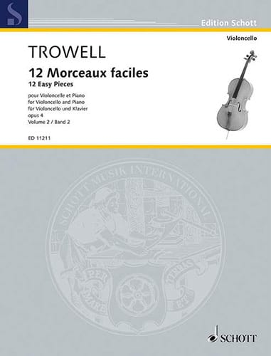 Arnold Trowell - 12 Easy Pieces Opus 4 Volume 2 - Partition - di-arezzo.com