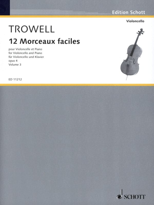 Arnold Trowell - 12 Easy pieces, op. 4 Volume 3 - Partition - di-arezzo.com