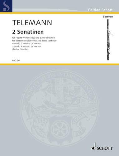 TELEMANN - 2 Sonatinen - Fagott und Bc - Partition - di-arezzo.com