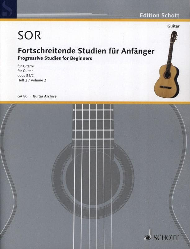 Fernando Sor - Forschreitende Studien für Anfänger op. 31 - Volume 2 - Partition - di-arezzo.fr