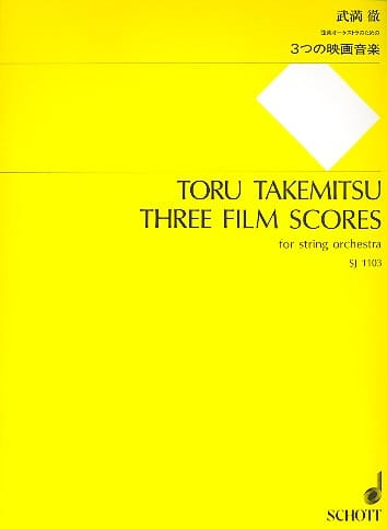 3 Film Scores 1994 - TAKEMITSU - Partition - laflutedepan.com