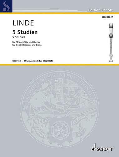 Hans-Martin Linde - 5 Studien für Altblockflote und Klavier - Partition - di-arezzo.com