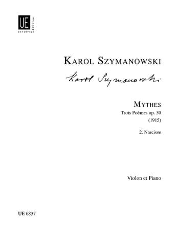 Karol Szymanowski - Narcissus op. 30 n ° 2 - Partition - di-arezzo.co.uk