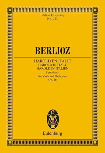 BERLIOZ - Harold In Italy Op. 16 - Partition - di-arezzo.it