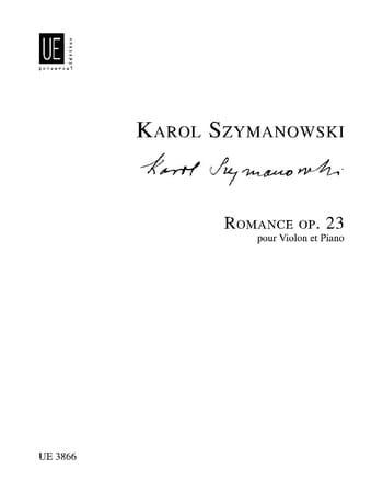 Karol Szymanowski - Romance op. 23 - Partition - di-arezzo.co.uk