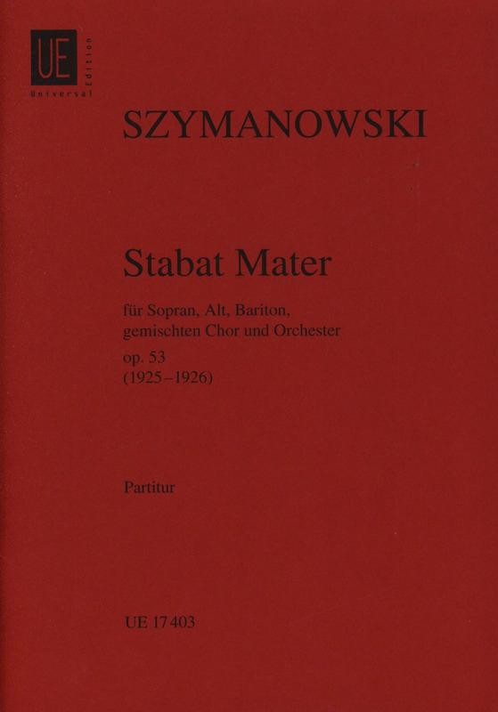 Stabat Mater op. 53 -Partitur - Karol Szymanowski - laflutedepan.com