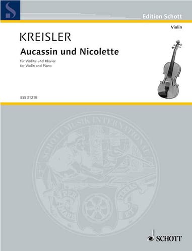 Fritz Kreisler - Aucassin and Nicolette - Partition - di-arezzo.co.uk