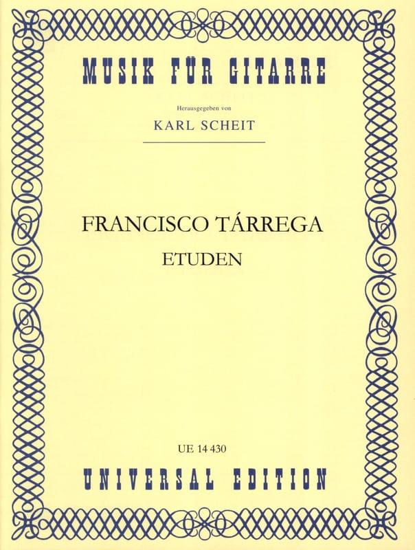 Etudes - TARREGA - Partition - Guitare - laflutedepan.com