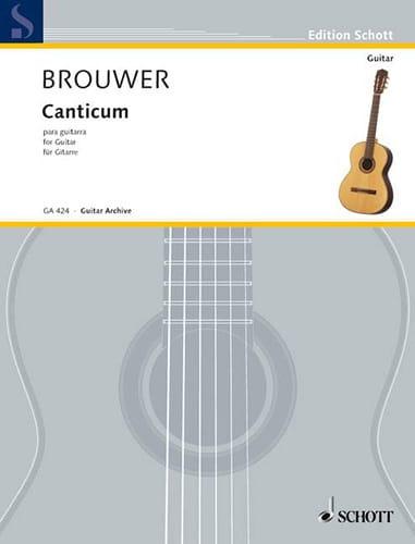 Leo Brouwer - canticum - Partition - di-arezzo.es