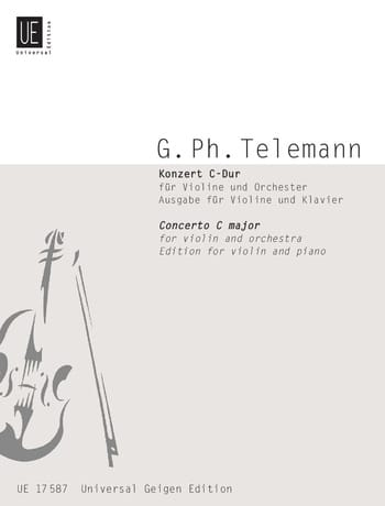 TELEMANN - Konzert C-Dur für Violine - Partition - di-arezzo.co.uk