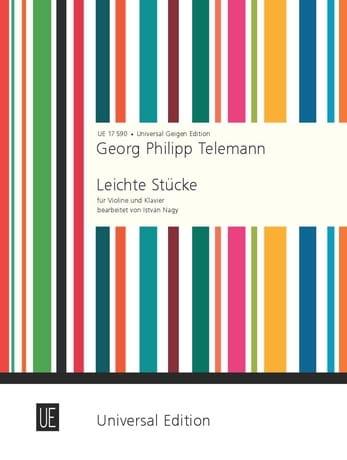 Leichte Stücke - TELEMANN - Partition - Violon - laflutedepan.com