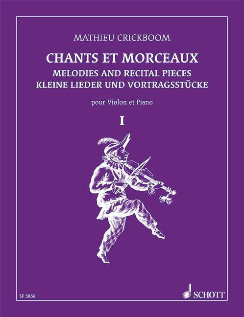 Chants et morceaux - Volume 1 - Mathieu Crickboom - laflutedepan.com