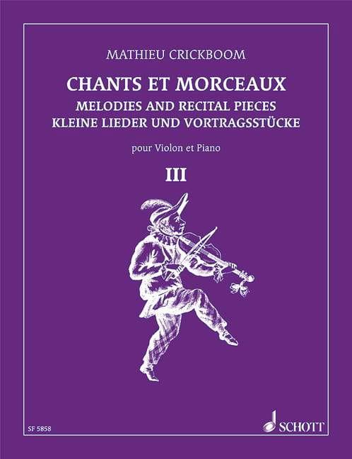Chants et morceaux - Volume 3 - Mathieu Crickboom - laflutedepan.com