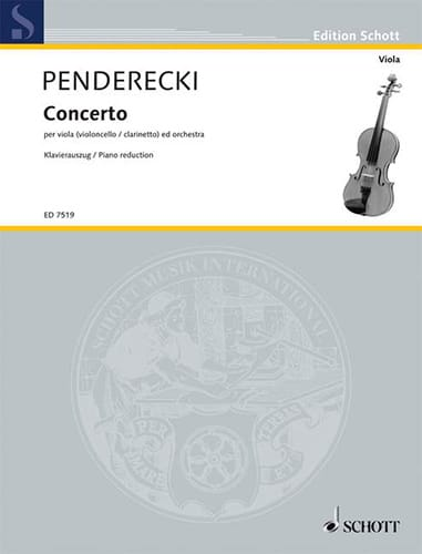 Concerto pour Alto - PENDERECKI - Partition - Alto - laflutedepan.com