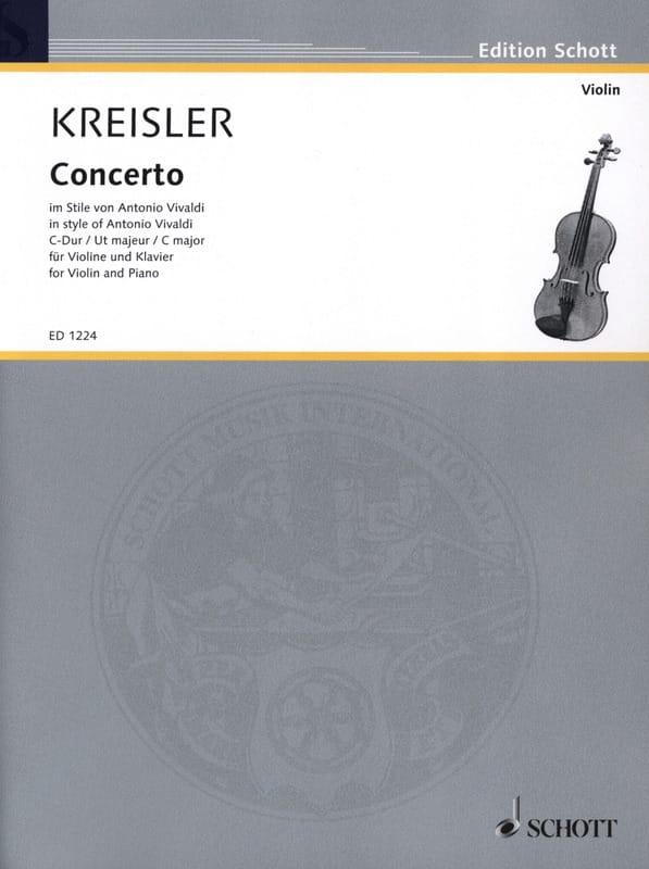 Concerto Violon ut majeur - KREISLER - Partition - laflutedepan.com