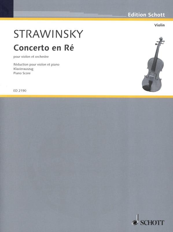 Igor Stravinsky - Violin Concerto - Partition - di-arezzo.com