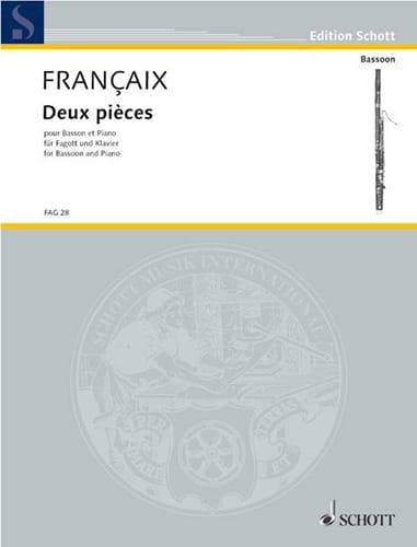 Jean Françaix - 2 rooms - Partition - di-arezzo.com