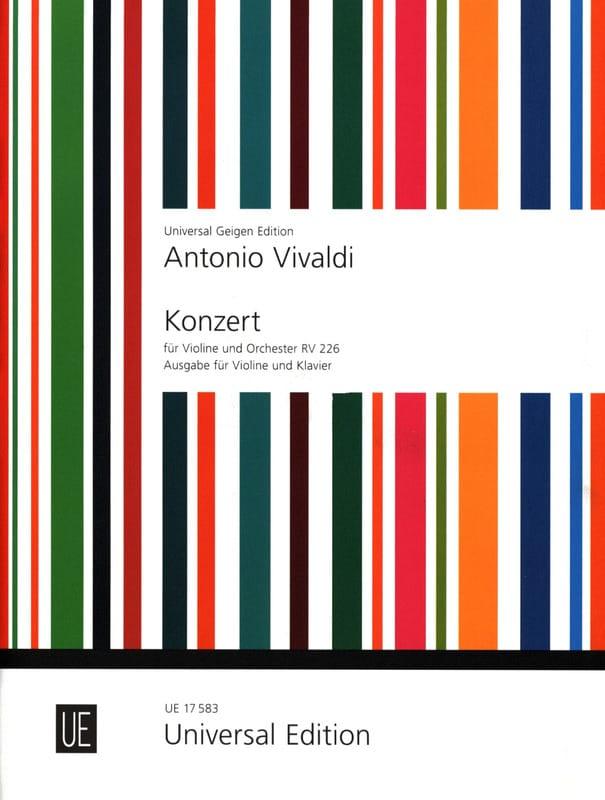 Concerto Violon ré majeur RV 226 - VIVALDI - laflutedepan.com