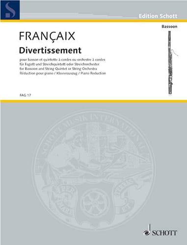 Jean Françaix - Entertainment - Bassoon and piano - Partition - di-arezzo.com