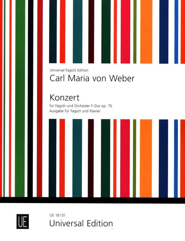 Carl Maria von Weber - Konzert F-Dur, op. 75 - Fagott Klavier - Partition - di-arezzo.com