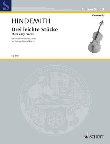 Drei Leichte Stücke - HINDEMITH - Partition - laflutedepan.com