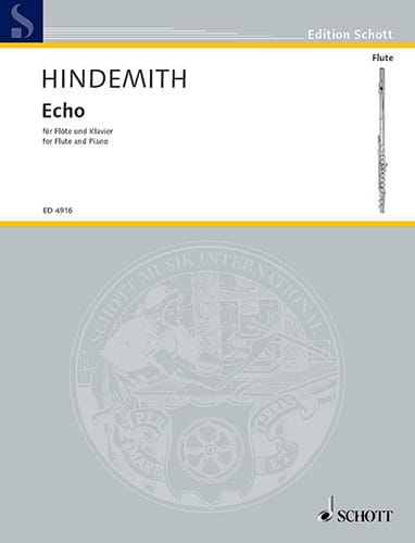 Paul Hindemith - Echo - Flöte Klavier - Partition - di-arezzo.co.uk