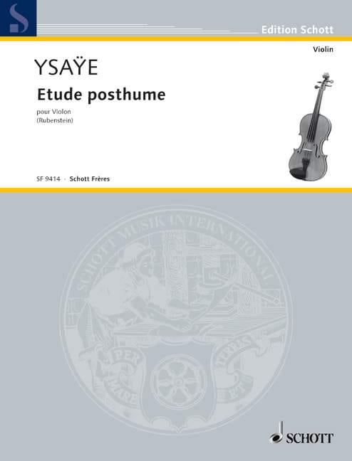 Eugène Ysaÿe - Posthumous study - Partition - di-arezzo.co.uk