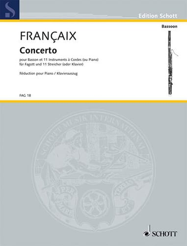 Jean Françaix - Bassoon Concerto - Partition - di-arezzo.com