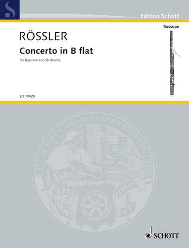 Franz Anton Rösler - Fagott-Konzert B-Dur - Partition - di-arezzo.com