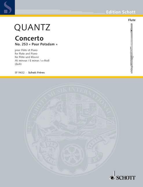 Johann Joachim Quantz - Concierto de flauta No. 253 para Pupdam - Flauta - Partition - di-arezzo.es