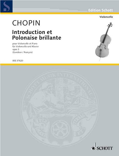CHOPIN - Introduction and brilliant Polish op. 3 - Partition - di-arezzo.com