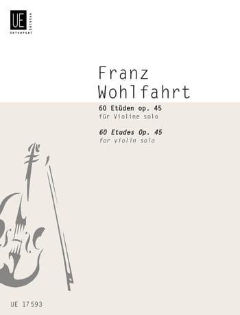 Franz Wohlfahrt - 60 Etüden für Violine Solo - Partition - di-arezzo.com