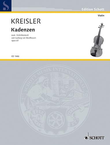 Kadenzen zum Violinkonzert von Beethoven op. 61 - laflutedepan.com